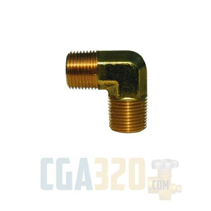 "Picture of 1/8"" MPT All Male Elbow - Brass"