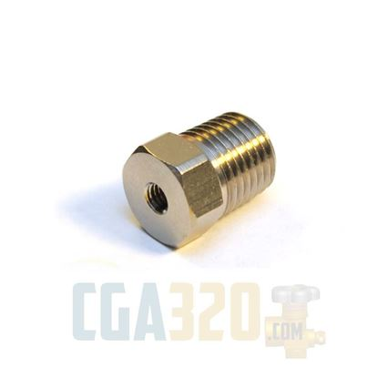 "Picture of 1/4"" x 10-32 Reducer - Nickel Plated"