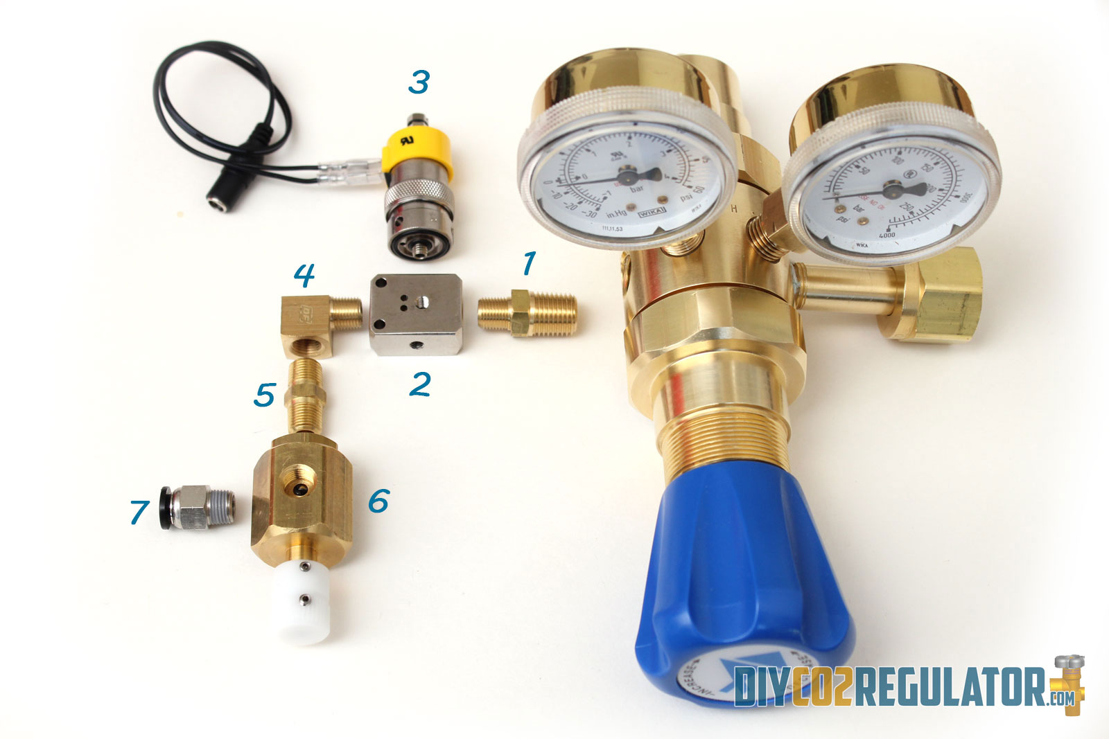 CO2 Regulator Parts | CO2 For Planted Tanks And Home Brewing