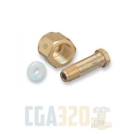 "Picture of CGA-320 Nut & 2.5"" Nipple"