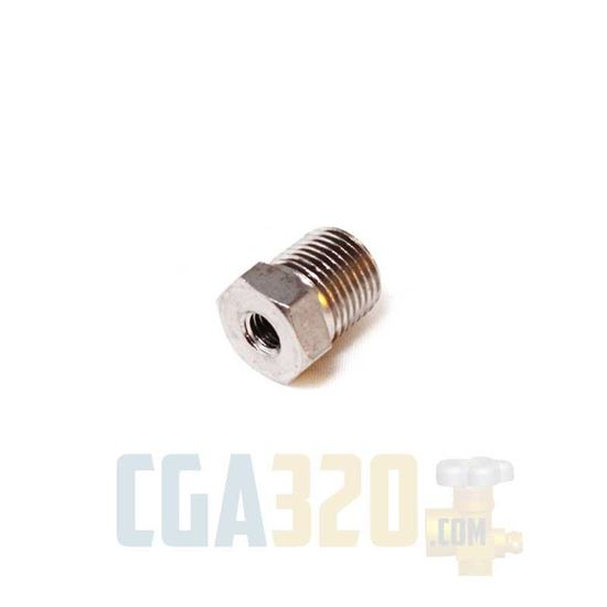 """Picture of 1/8"""" NPT Male to #10-32 Female Reducer"""