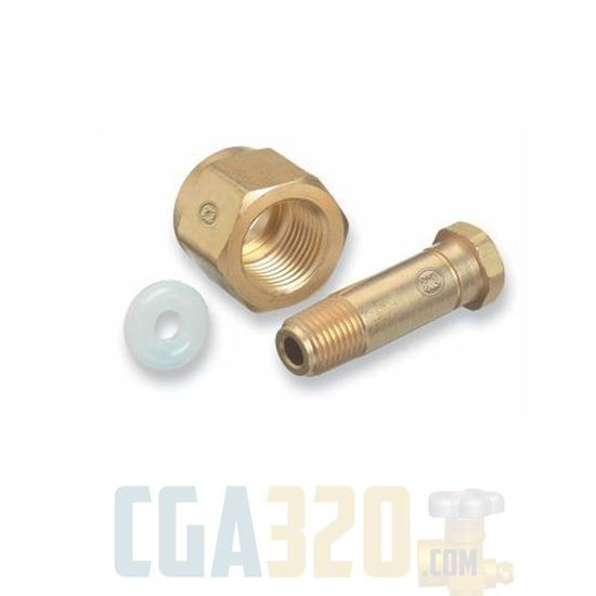 "Picture of Short CGA-320 Nut & 2"" Nipple"