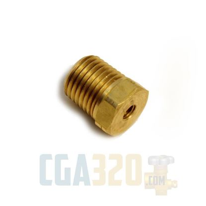 """Picture of 1/4"""" x 10-32 Reducer - Brass"""