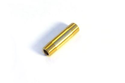 "Picture of 1/8"" NPT Pipe Nipple - Brass"