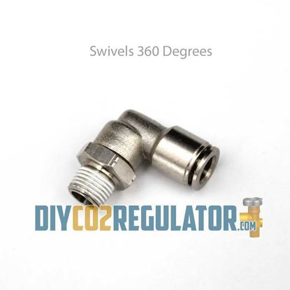 CO2 Regulator Push Connect CO2 Tubing Swivels